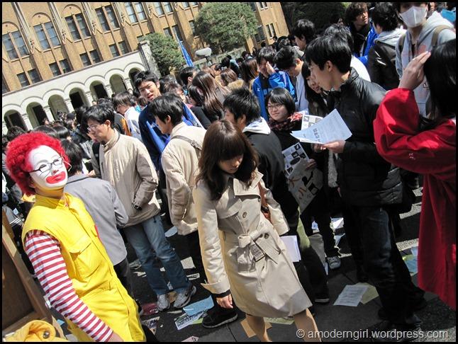 Exam Results Day, University of Tokyo
